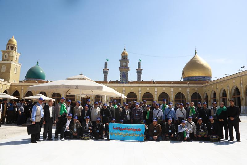 خمسون زائراً من عوائل الإمداد ضيوف العتبة الحسينية المقدسة في العراق