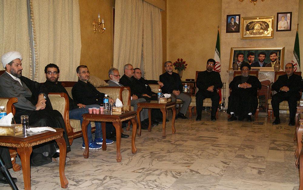 مجلس فاتحة في دار السفارة الايرانية عن روح المرحوم حبيب الله عسكر أولادي